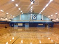 School Gymnasium with improved lighting after retrofit